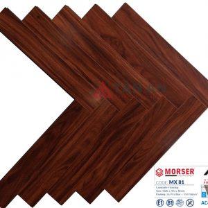 Sàn gỗ công nghiệp hèm khóa xương cá 8mm Moser MX81