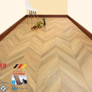 Sàn gỗ công nghiệp vân xương cá 8mm Moser XK140